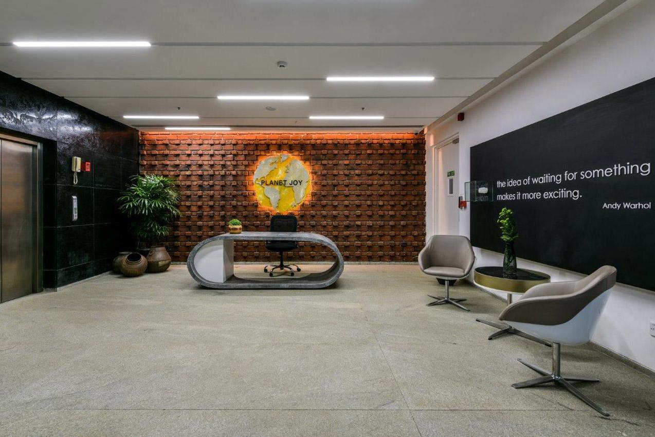 Office Building Mumbai Main Lobby Interior Design