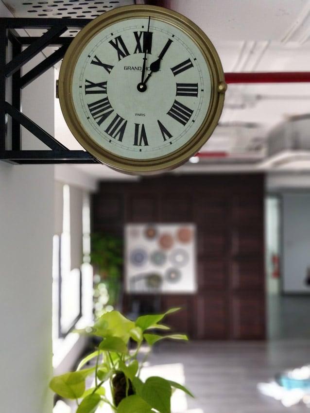 Office Building Mumbai Wall Clock