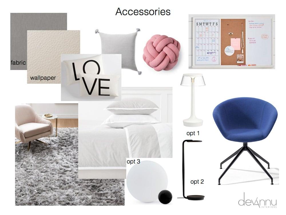 Tween Bedroom Accesories Option 1