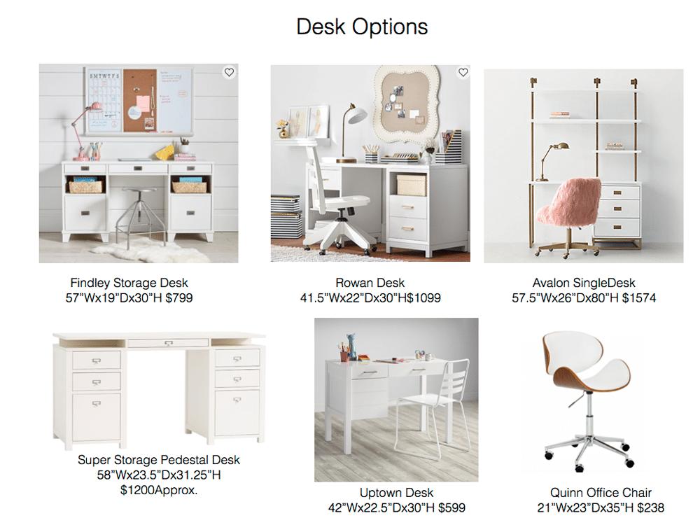 Tween Desk Option