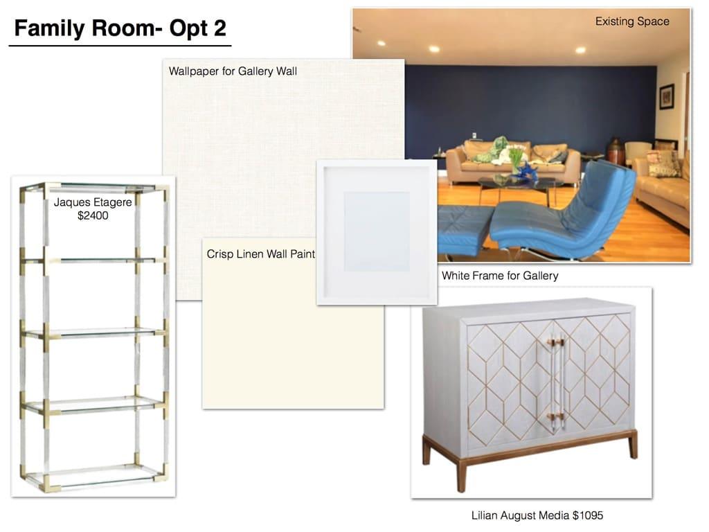 Family Room Furniture Concept Board