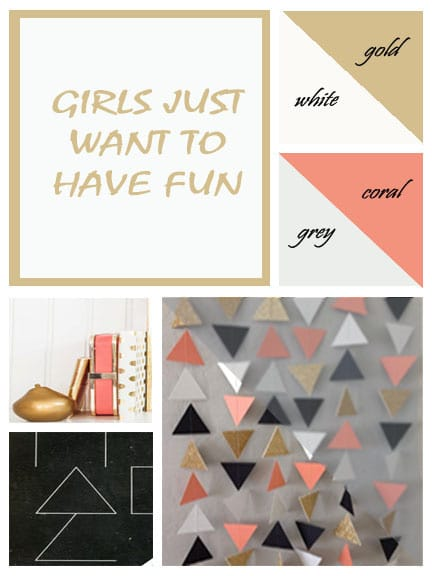 Girls Room Mood Board