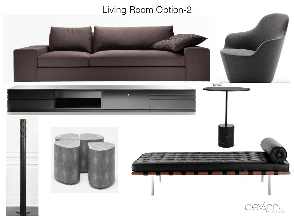 Living Room Mood Board Option