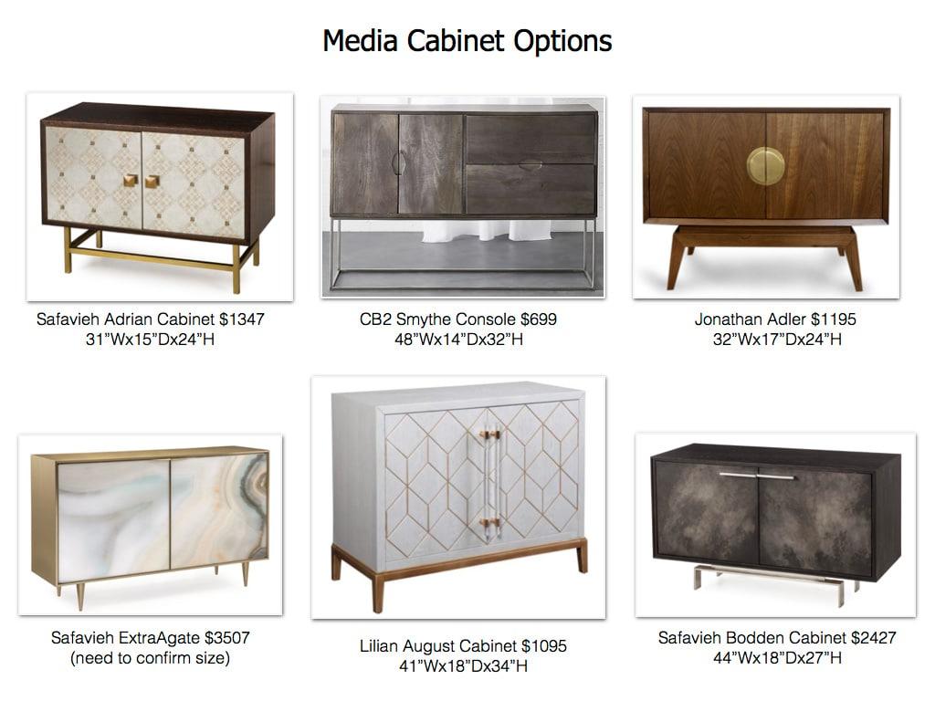 Media Cabinet Option For Scarsdale Living Room